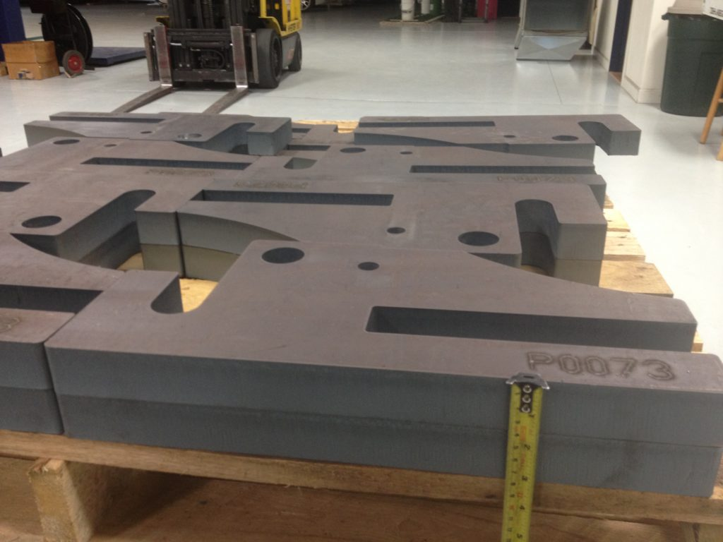 """1.5"""" plate production parts with surface etching"""